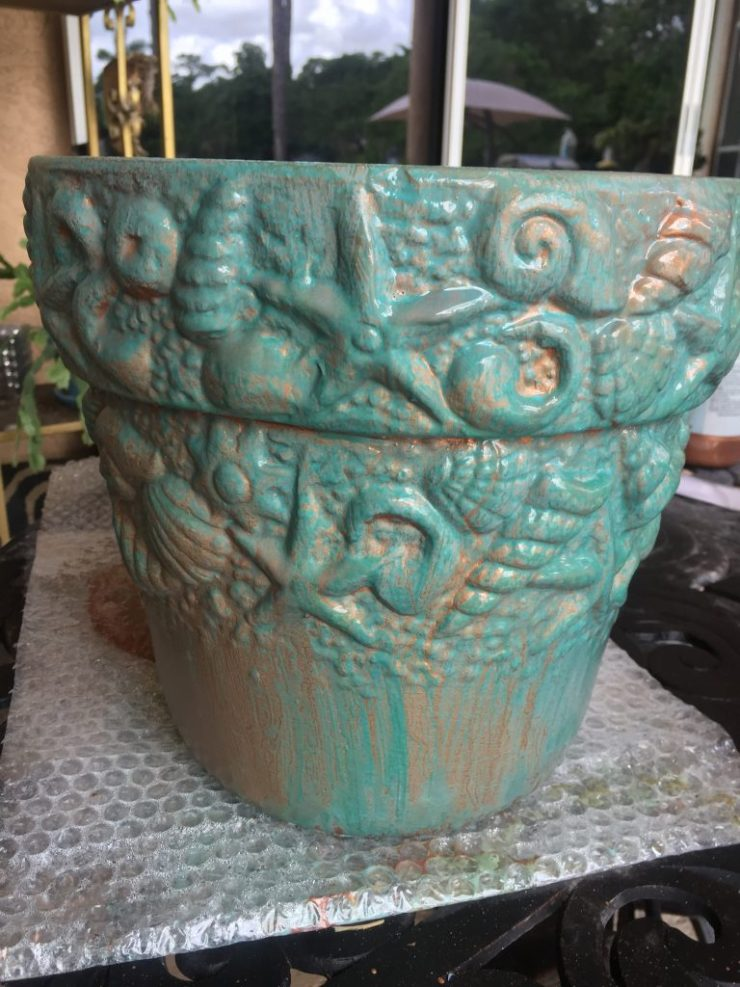 Modern Masters Copper Patina activating spray - Copper Patina Flower Pots