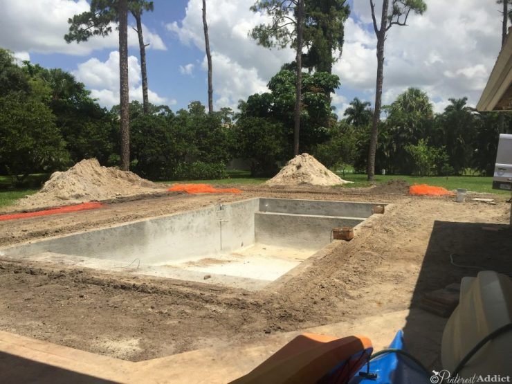 What to expect when building a pool - electric around pool installed