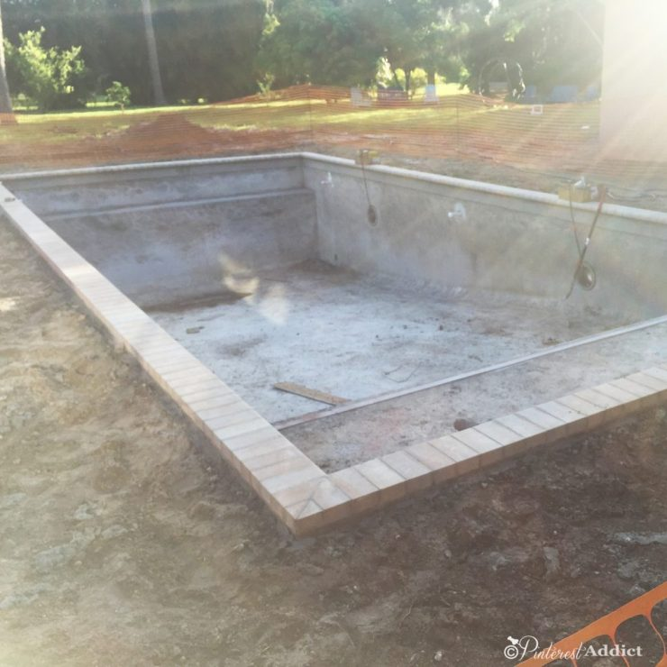 What to expect when building a pool - coping complete