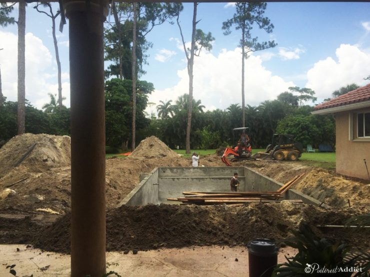 What to expect when you build a pool - backfilling in around the pool