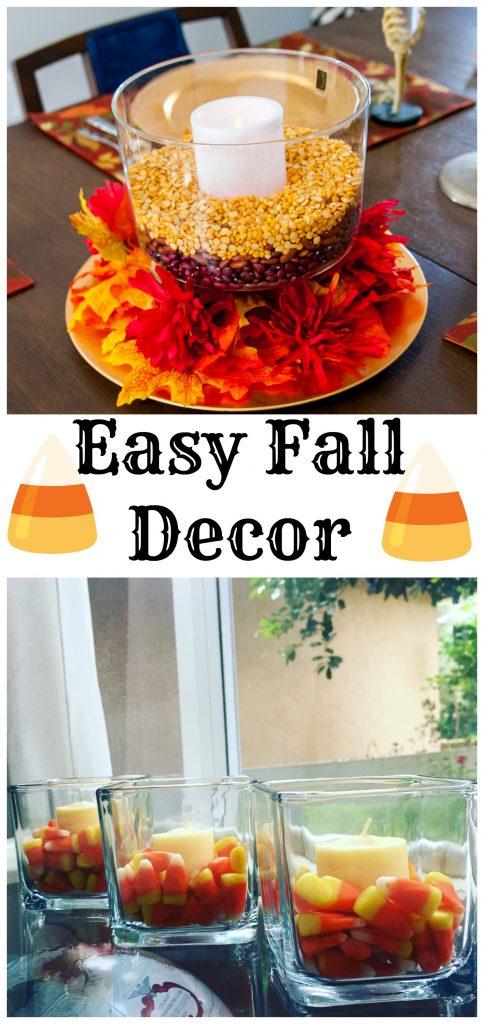 Easy Fall Decor - using dollar store items