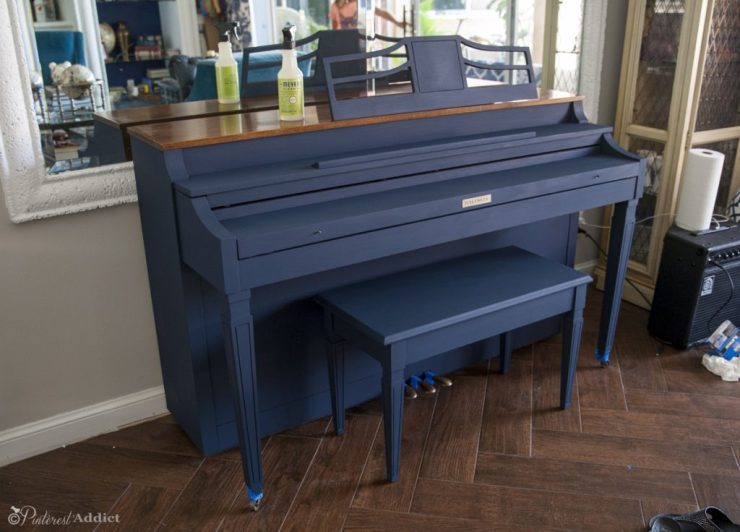 Painted piano - chalk paint, before wax was applied