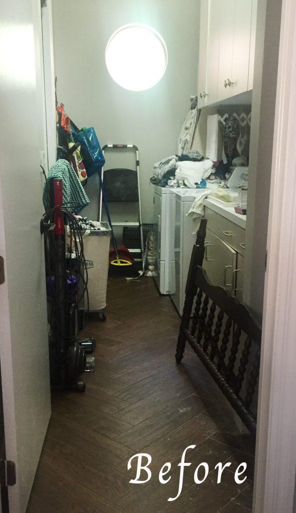 $100 Room Challenge - week one - laundry room before