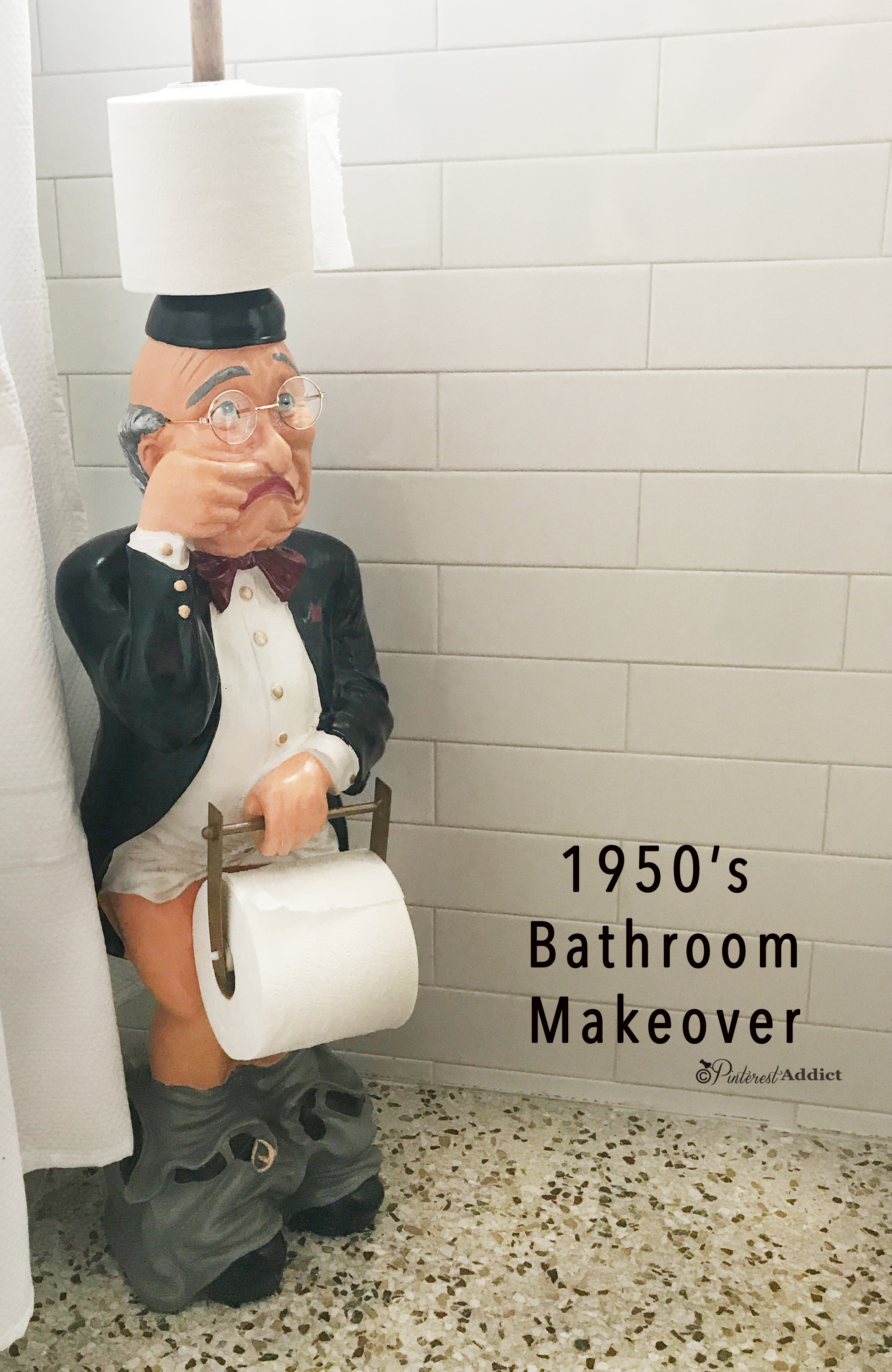 1950 S Guest Bathroom Makeover Pinterest Addict