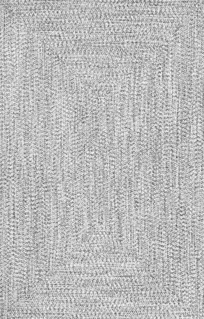 jubilee solid braided rug - salt and pepper - Rugs Plus