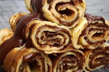 crepe, chocolate, sobremesa