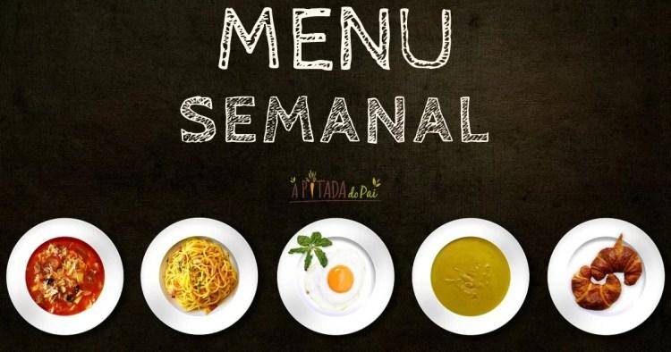 menu semanal saudável pratos refeições