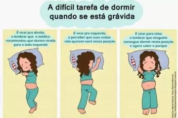 dormir gravidez barriga
