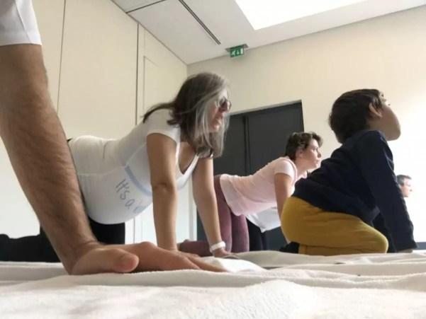 Os 5 minutos de yoga possíveis... Estavam a ser perfeitos!
