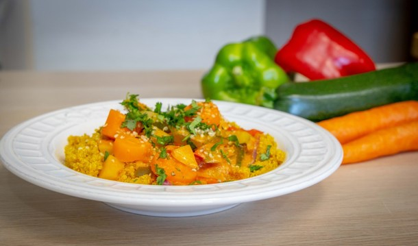 Fricassé de legumes com quinoa