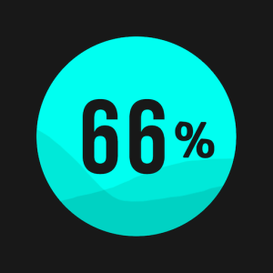 Filling: fill 66% of the level