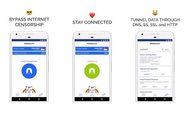 TunnelCat VPN Free Browsing