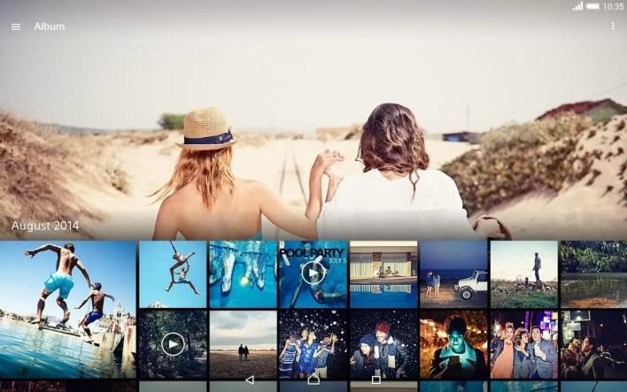 تطبيق المعرض الخاص بأجهزة سوني (Album) لجميع الأجهزة