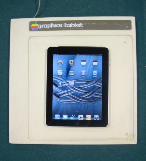Apple Graphics Tablet and Apple iPad