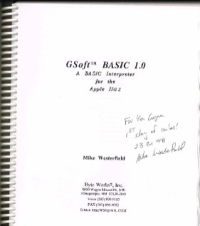 Cover of GSoft BASIC