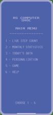 App main menu