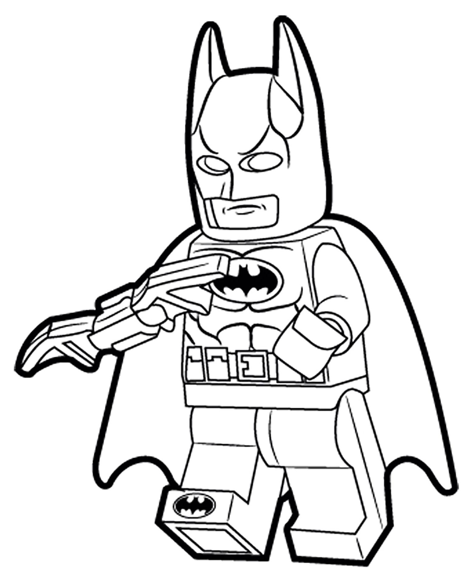 dessin à imprimer: Dessin A Colorier A Imprimer Batman