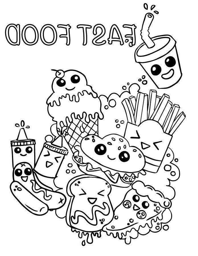 dessin à imprimer: Dessin Kawaii Nourriture A Imprimer