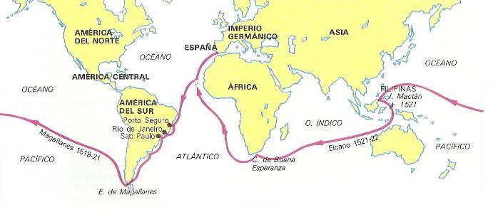 Resultado de imagen de expedicion primera vuelta al mundo