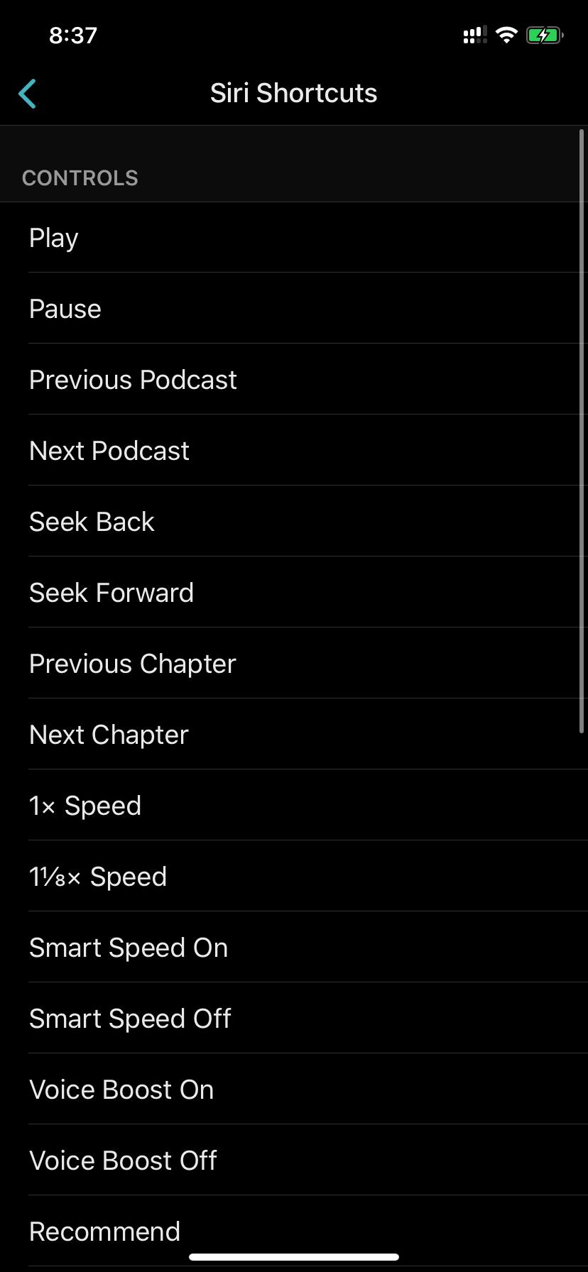 Ovecast Siri