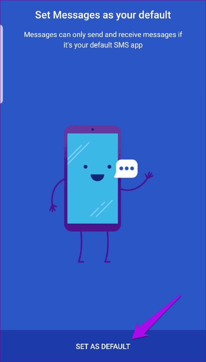 Padrão do conjunto de mensagens do Android Rcs