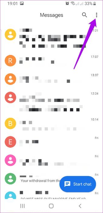 """Menu de mensagens do Android Rcs """"width ="""" 682 """"height ="""" 1400 """"tamanhos de dados ="""" auto """"tamanhos ="""" (largura mínima: 976px) 700px, (largura mínima: 448px) 75vw, 90vw """"srcset ="""" https: //cdn.guidingtech.com/imager/media/assets/248632/android-rcs-messaging-menu_4d470f76dc99e18ad75087b1b8410ea9.png?1576158997 682w, https://cdn.guidingtech.com/imager/media/assets/248632/android-rcs -messaging-menu_40dd5eab97016030a3870d712fd9ef0f.png? 1576158997 500w, https://cdn.guidingtech.com/imager/media/assets/248632/android-rcs-messaging-menu_7c4a12eb7455b3a1ce1281151"""