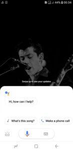 o assistente do Google irá aparecer