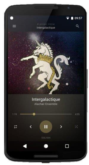 BlackPlayer Music Player - Melhores aplicativos de Music Player para Android