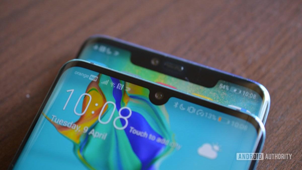 Entalhes Huawei P30 Pro e Mate 30 Pro - smartphones em 2020