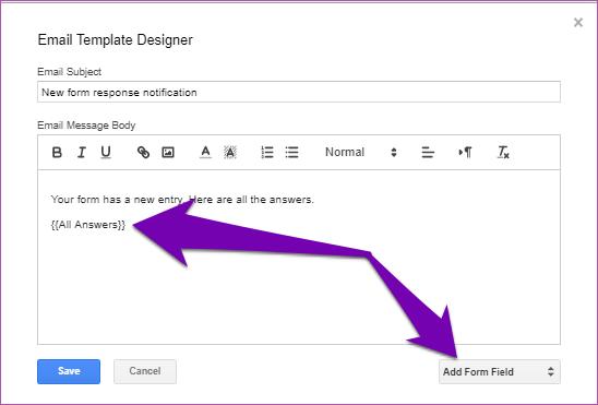 Obter respostas dos formulários do Google por email 13