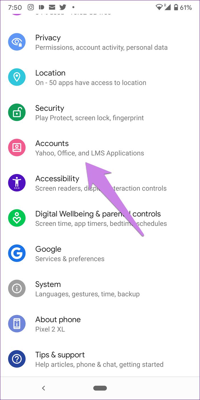 Adicionar conta do Google sem sincronização Android 1