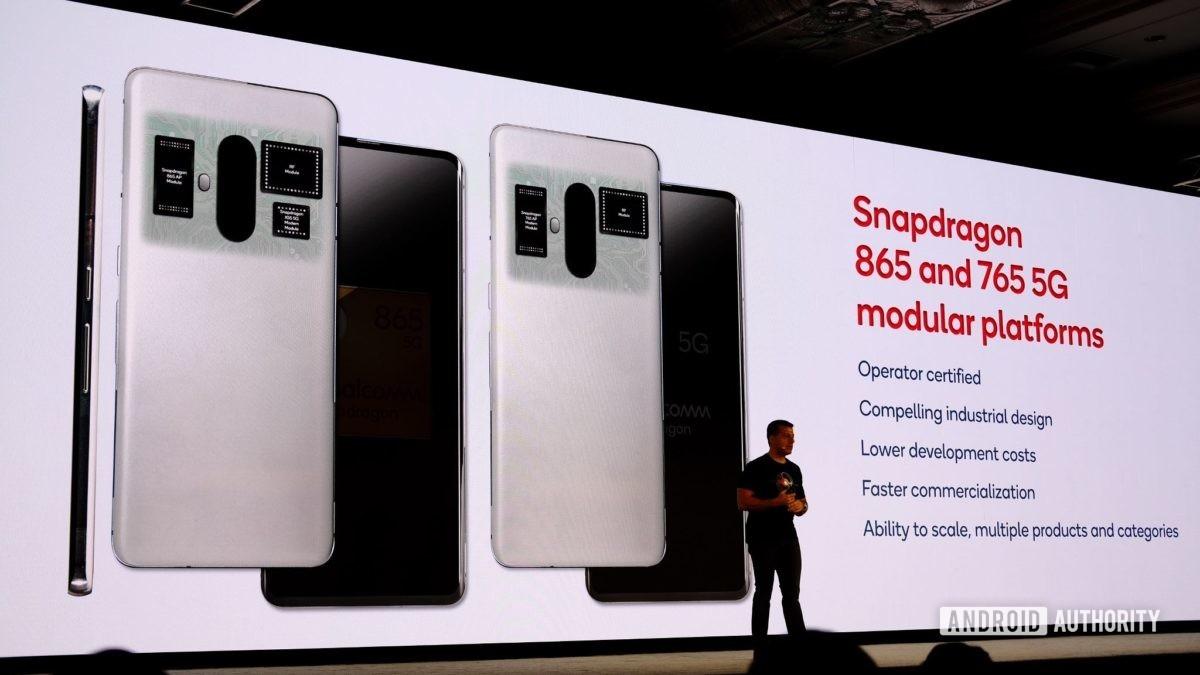 As plataformas modulares Snapdragon 865 e 765 5G deslizam