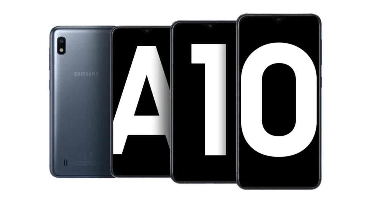 O Samsung Galaxy A10.