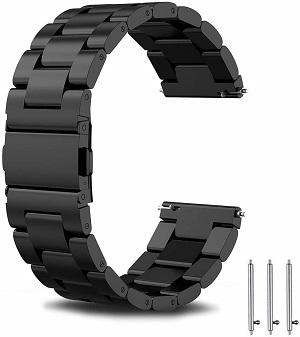 Melhores pulseiras para relógios Huawei Watch e Huawei Watch 2: banda de aço inoxidável de substituição TOROTOP