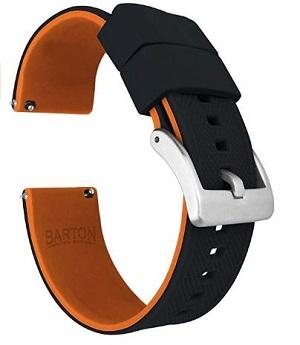 Melhores pulseiras para relógios Huawei Watch e Huawei Watch 2: pulseira de silicone Barton Elite