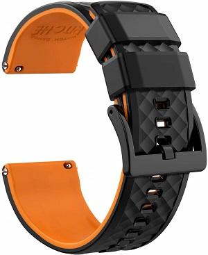 Melhores pulseiras para relógios Huawei Watch e Huawei Watch 2: pulseira de relógio Ritche Silicone