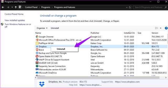 Corrigir o Dropbox não conectar ou sincronizar no Windows 10 Erro 13