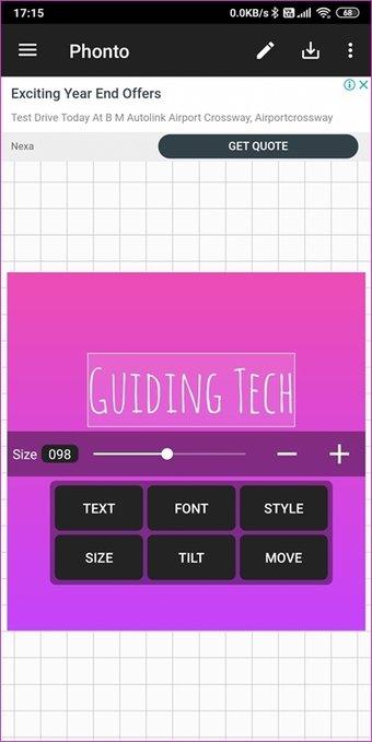 """Aplicativos de fontes para Android 8 """"width ="""" 377 """"height ="""" 752 """"tamanhos de dados ="""" auto """"tamanhos ="""" (largura mínima: 976px) 700px, (largura mínima: 448px) 75vw, 90vw """"srcset ="""" https : //cdn.guidingtech.com/imager/assets/2020/01/564226/Fonts-Apps-for-Android-8_4d470f76dc99e18ad75087b1b8410ea9.jpg? 1579964813 377w, https://cdn.guidingtech.com/imager/assets/2020/ 01/564226 / Aplicativos-de-fontes-para-Android-8_7c4a12eb7455b3a1ce1ef1cadcf29289.jpg? 1579964814 340w"""