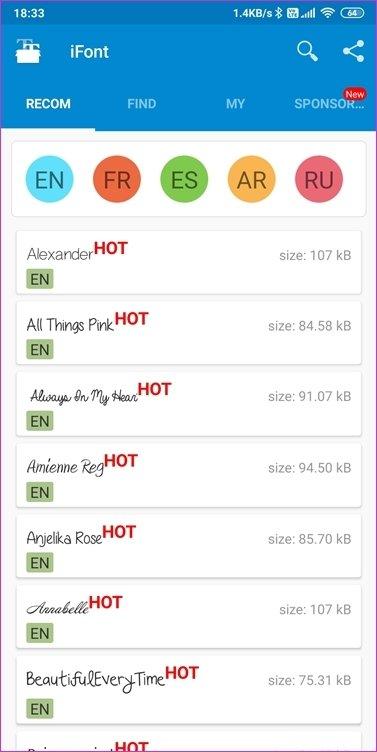 Aplicativos de fontes para Android 10