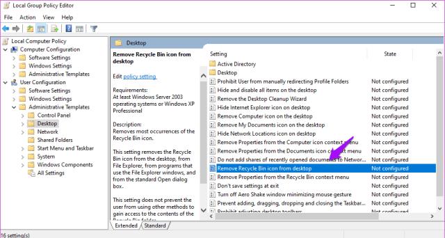 Corrigir a lixeira está acinzentada no Windows 10 15