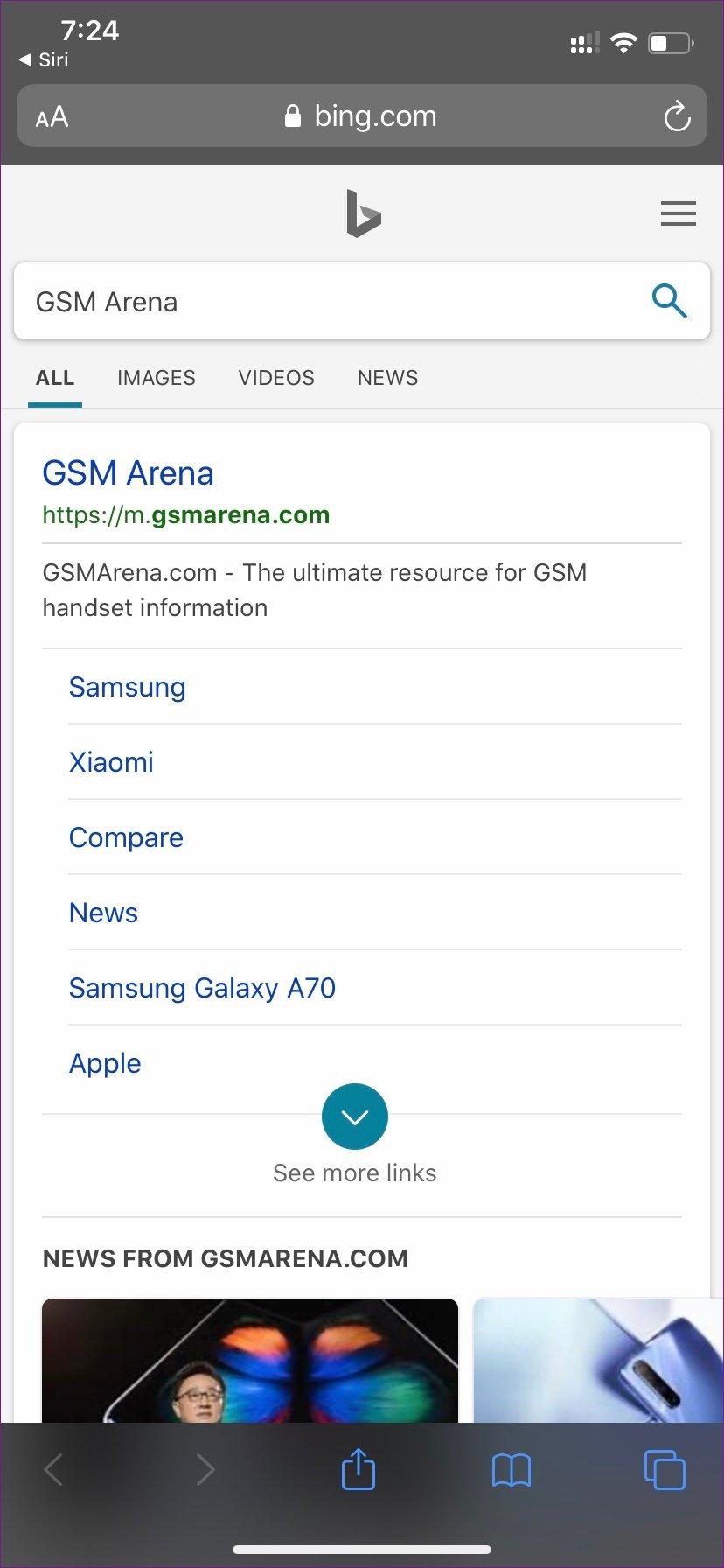 Pesquisa Siri Bing 3