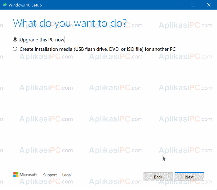 Upgrade this PC now - Media Creation Tool