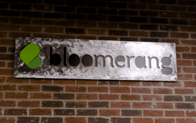 Bloomerang Metal Sign - Aplos Bloomerang intergration