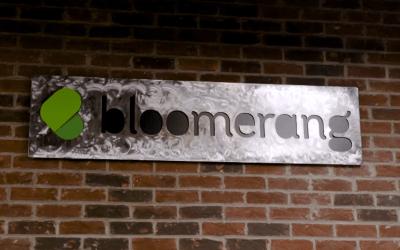 Bloomerang Metal Sign - Aplos Bloomerang intergration