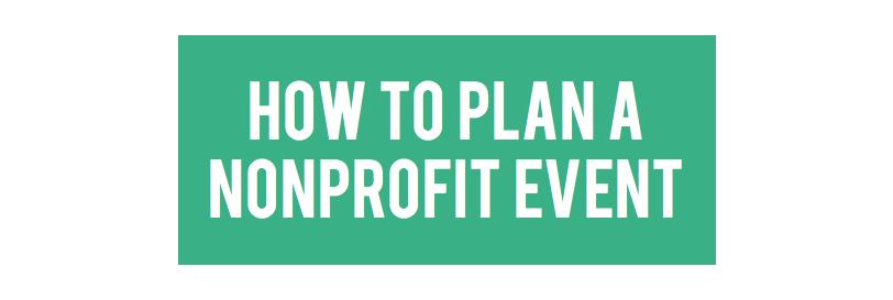 Nonprofit event checklist