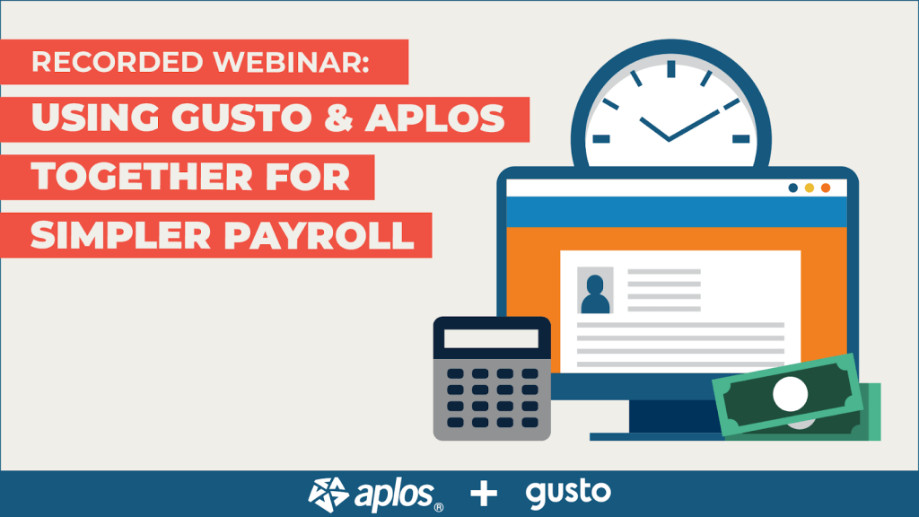 Using Gusto and Aplos together for simple nonprofit and church payroll