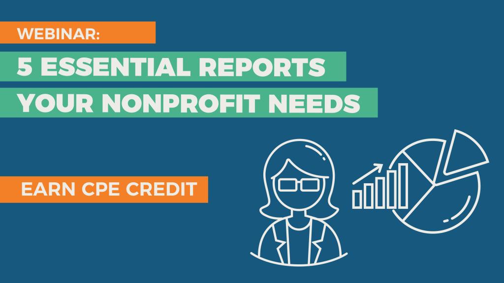 Nonprofit reporting webinar