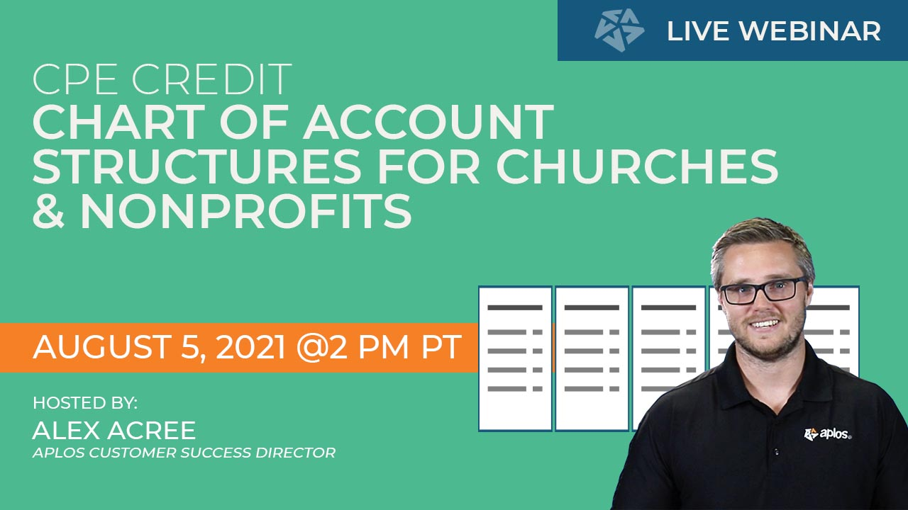 CPE Webinar: Chart Of Accounts Structures For Nonprofits And Churches