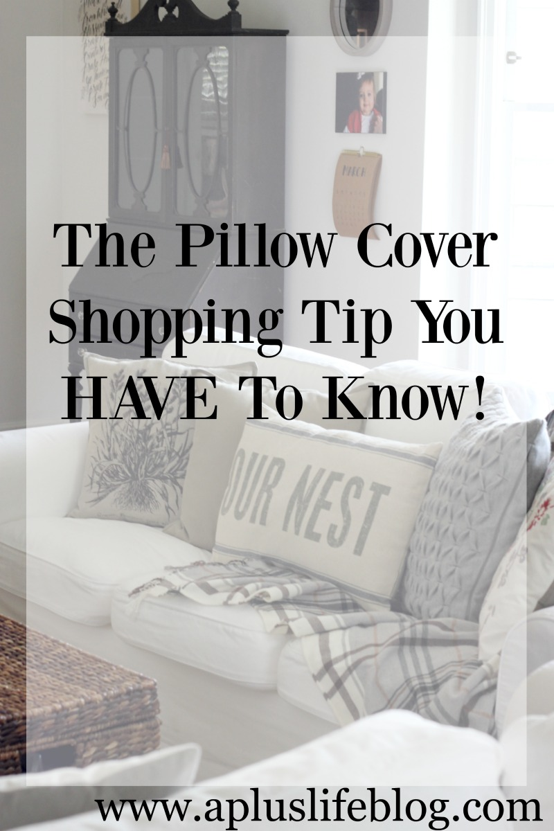 The Throw Pillow Cover Shopping Tip You HAVE To Know - A + Life