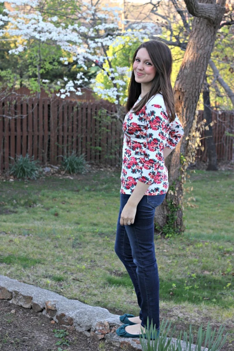 Loveappella Basil Quilted Shoulder Knit Top  - Stitch Fix Review #12 by Missouri style blogger A + Life